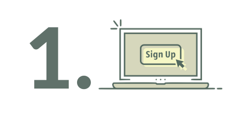1 Sign up